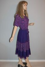 70er 70s true VTG Vintage Kleid 38/M VTG HIPPIE DRESS BoHO MIDI Gypsy Paisley