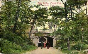 Vintage Postcard - Posted 1912 Arched Bridge In Central Park New York NY #3165