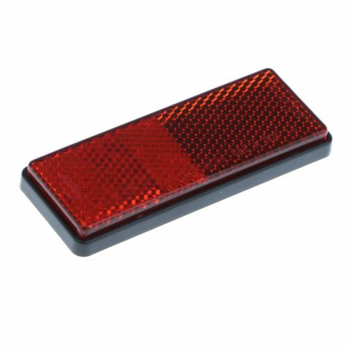 Red Bicycle Bike Cycle Satellite Cycling Safety Front Rear Reflectors Round New
