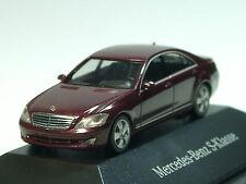 Herpa Mercedes S-Klasse, bordeaux met. - dealer PC - 1/87 (1377)