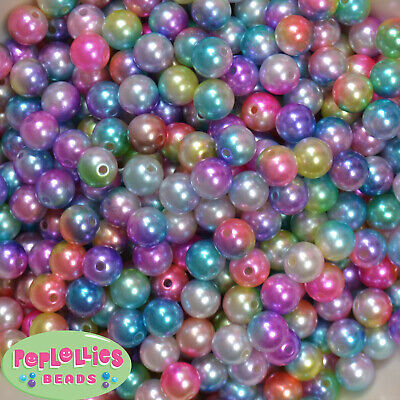 20x 10mm round acrylic beads ~ FACETED MULTI COLOUR ASSORTMENT