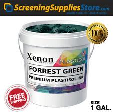 Xenon Forrest Green Plastisol Ink For Silk Screen Printing 1 Gallon 128oz