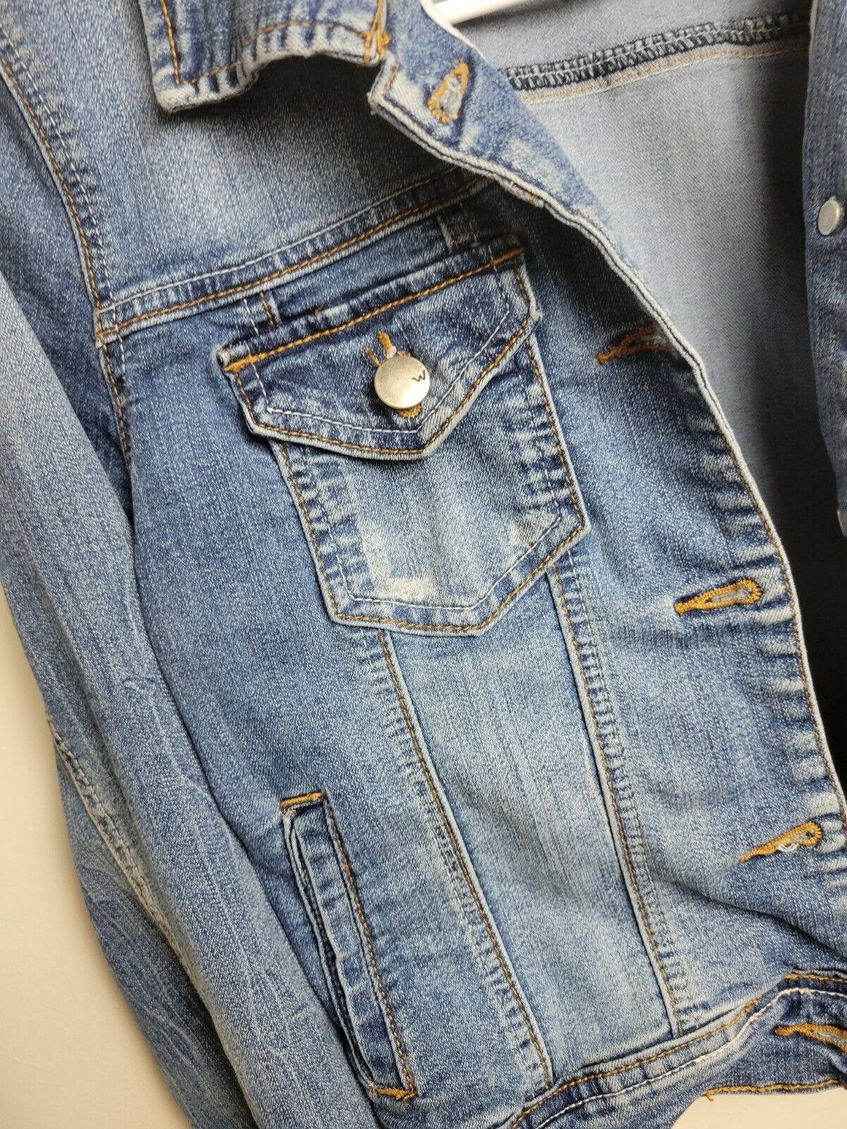 Womens Jean Jacket Small Wax Jeans - image 5