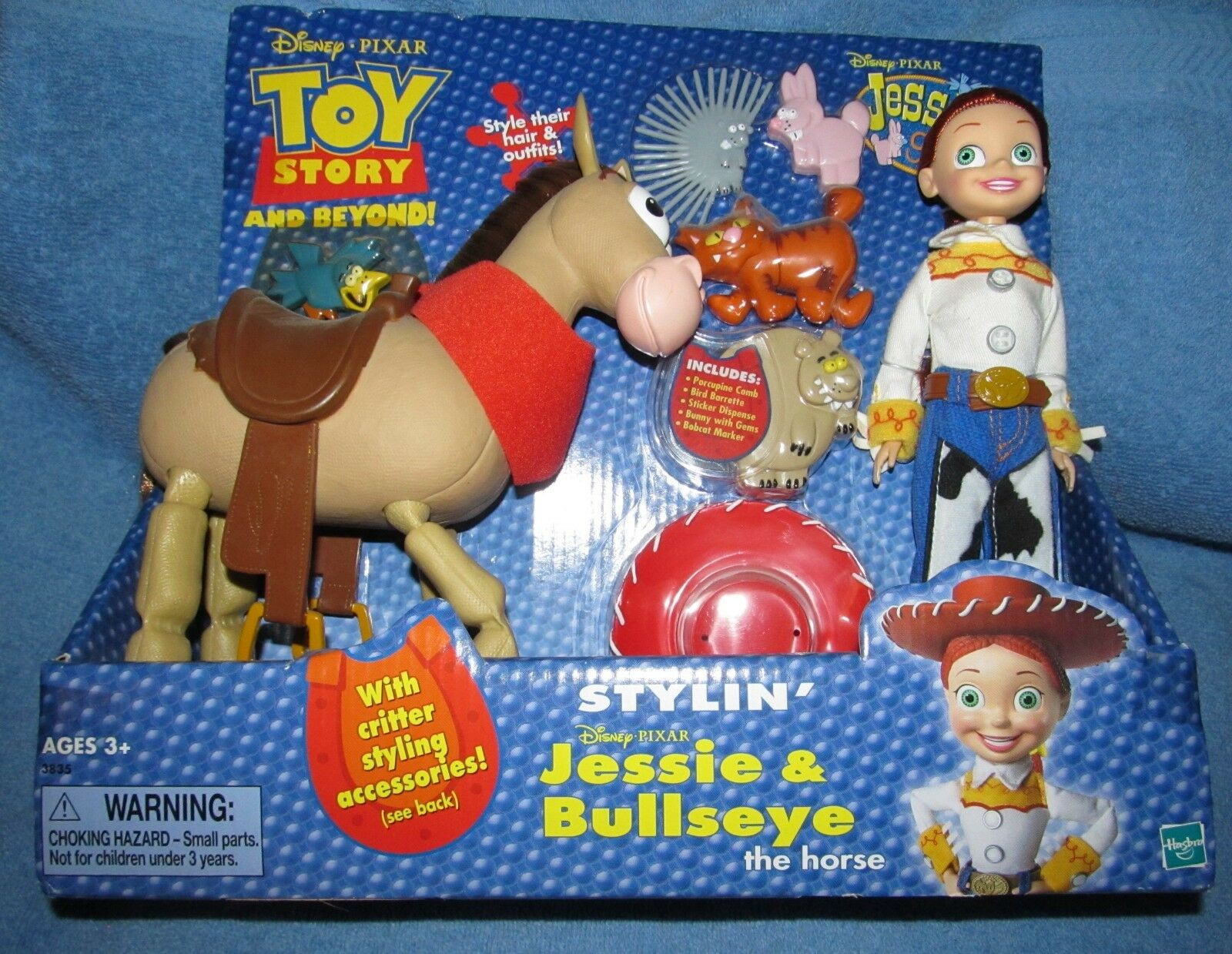 TOY STORY AND BEYOND  STYLIN JESSIE & BULLSEYE Playset-RARE & NEW