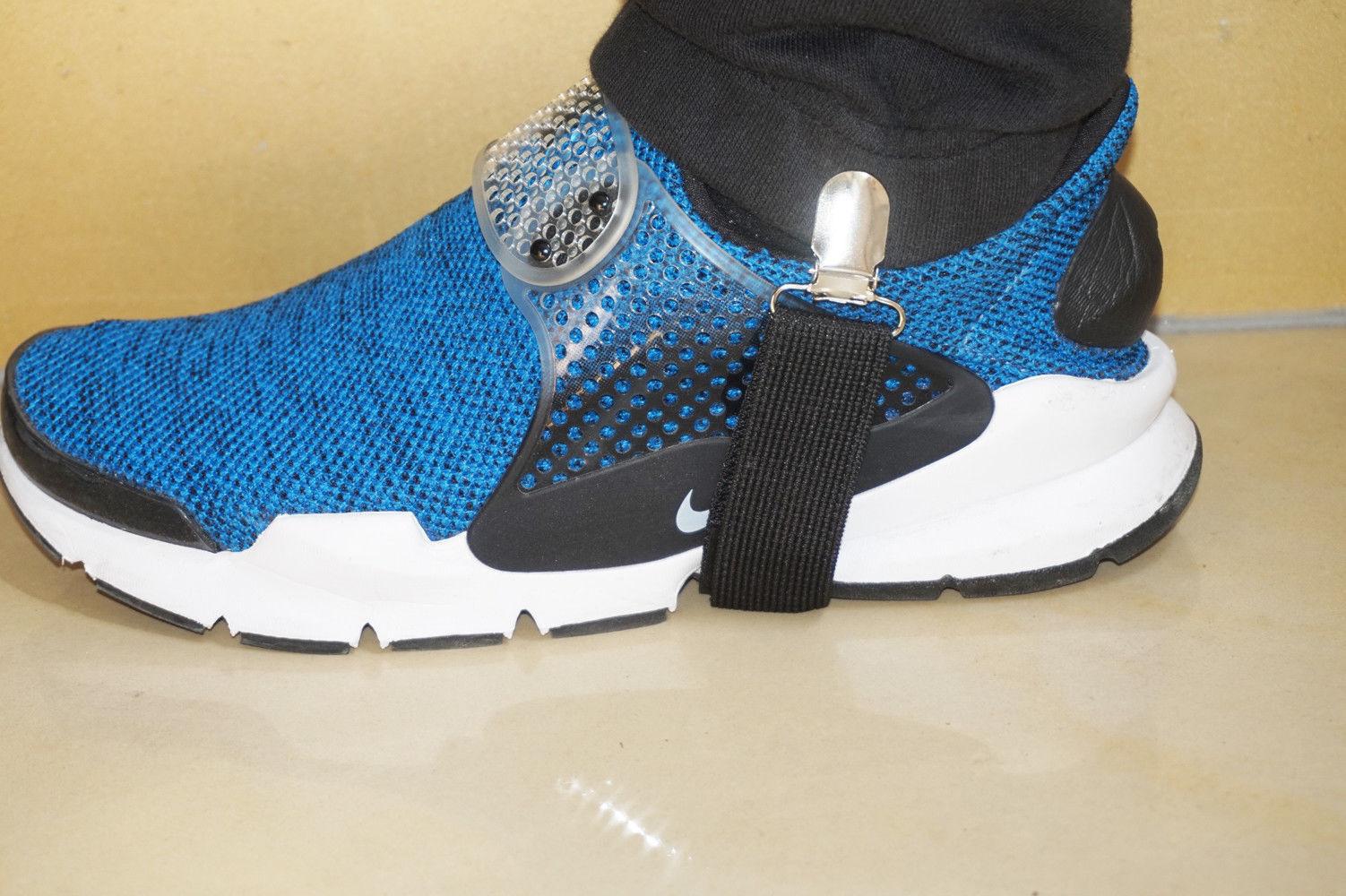 2x Men Women Boots Chains Fashion Western Shoe Elastic Strap High Stockings Clip