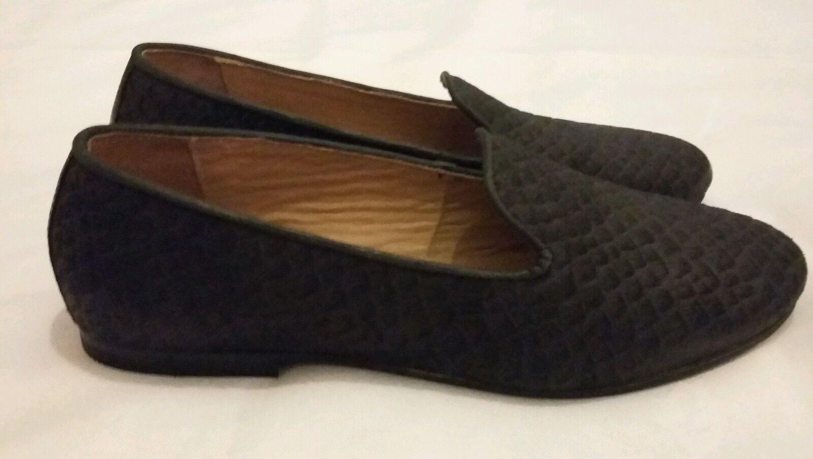 H by Hudson Balerno serpent noir effet Flats Slip On Chaussures Taille UK 5 EU 38