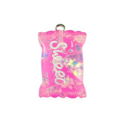 10Pc Pink//Green Resin Candy Charm Pendant Necklace Bracelet DIY Making Craft
