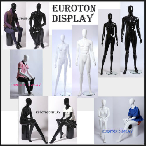 Abstract Mannequins in black and white Gloss Man and Female New Modern