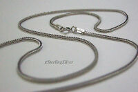 """925 Sterling Silver Designer Chain / Necklace - 17.5"""" Inches, 1.2mm, 3.5 grams"""