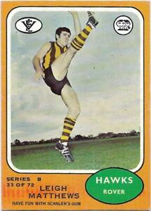 1973 B Scanlens (33) Leigh MATTHEWS Hawthorn :: | eBay