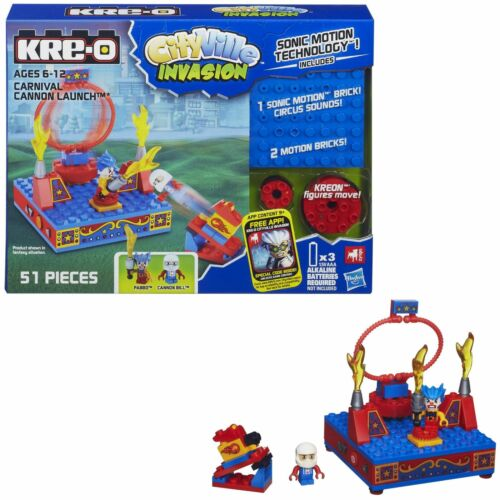 Kreo Hasbro Kre-o City Ville Invasion Carnival Cannon Launch A5858 A5855