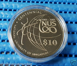 2005-Singapore-NUS-Centennial-Commemorative-10-Cupro-Nickel-Proof-Like-Coin