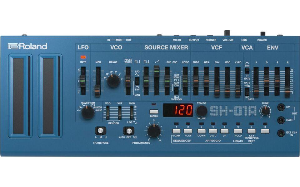 Synthesizer, Roland SH-01A-BU (Blå) inkl. Boutique K-25m