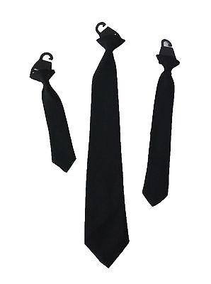 Childrens Black Clip On Tie Boys Black Clip On Tie Mens Black Clip On Tie Kids