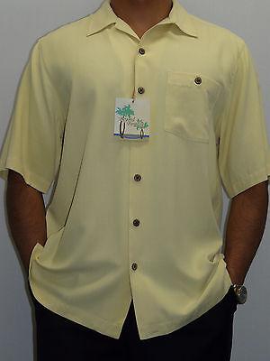 Estee Lauder Beyond Paradise Mens 100/% Silk Solid Shirt Large, Wine