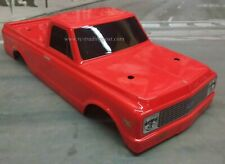 Custom Painted Body 1972 Chevy C10 For 1/10 RC Monster Truck Traxxas Stampede
