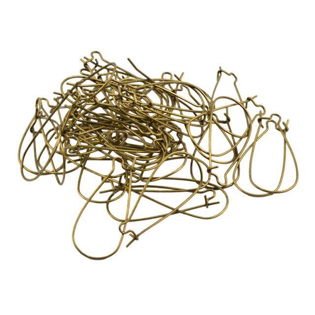 100X Jewelry Making Findings Silver Earring Fish Hook Ear Wire 19mm