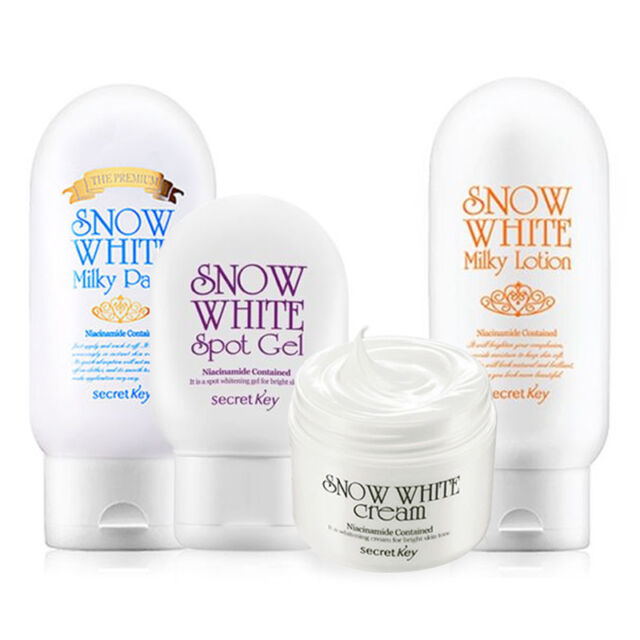 [SECRET KEY] Snow White 4 SET (Premium Milky Pack/Milky Lotion/Cream/Spot Gel)
