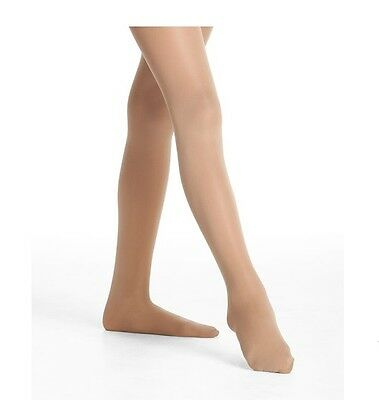 9-10 Baryshnikov 3409 Girl/'s Size C White Footed Tights FADED, Yellow Stains