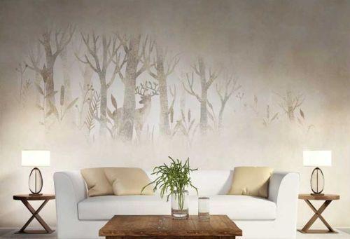 3D Hazy Forest Deer 86 Wall Paper Murals Wall Print Wall Wallpaper Mural AU Kyra