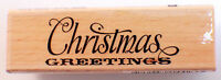 Christmas Greeting Quote Words Writing Studio Wooden Rubber Stamp Inv114