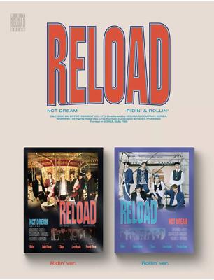 Pre Order Reload NCT Dream Photocard Set 4th Mini Album Album Package with Extra Decorative Sticker Set Ridin ver.