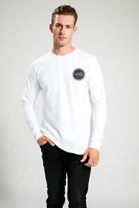 AUSTRALIAN-DESIGNER-MEN-039-S-WHITE-GYM-SUMMER-LONG-SLEEVE-WITH-PRINT