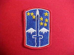 United States 172nd Infantry Brigade Patch