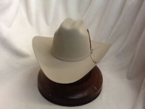 Stetson Cowboy Hat 6X Beaver Fur Silverbelly RANCHER+Free Hat Brush+ ... 54ae8c8d991
