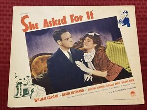 She Asked For It Original Movie Lobby Card 1937 Paramount 11x14