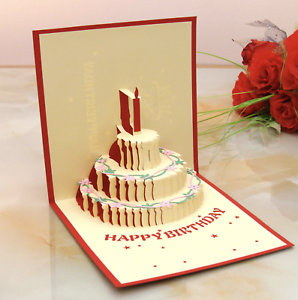 Handmade 3d popup cards valentine lover happy birthday anniversary image is loading handmade 3d popup cards valentine lover happy birthday m4hsunfo