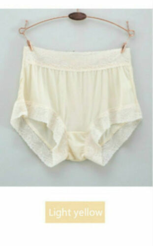 Damen gestrickt Seide Unterhose Spitzenunterwäsche Schlüpfer Slip Unterwäsche
