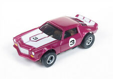 New Autoworld Flame Thrower Rel 11 Wine 1971 Camaro HO Slot Car Fit Aurora AFX