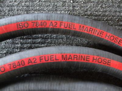 "12/"" Fire Resistant Marine fuel hose ISO7840 long 1-57806 25mm bore x 0.305m"
