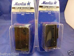 TWO-Marlin-22-magazine-7-Round-22-Mag-17-HMR-for-882-25MN-982-Blue-22-Magnum