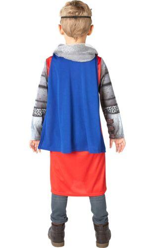 Niño Rey Arturo Fancy Dress Costume Chicos Libro Semana Disfraz Medieval Histórico
