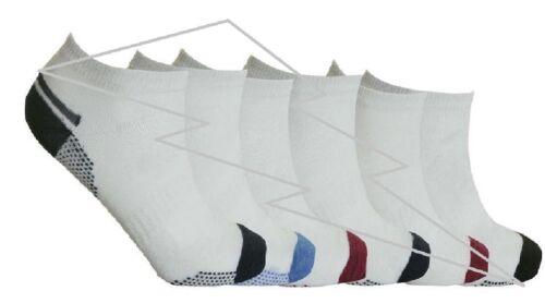 Homme Sneaker Sport été Athletic Multi Stripe Gym Chaussettes 6-11 Lot
