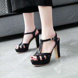 Women-Gladiator-Sandals-Platform-Open-Toe-Block-High-Heels-Party-Wedding-Shoes