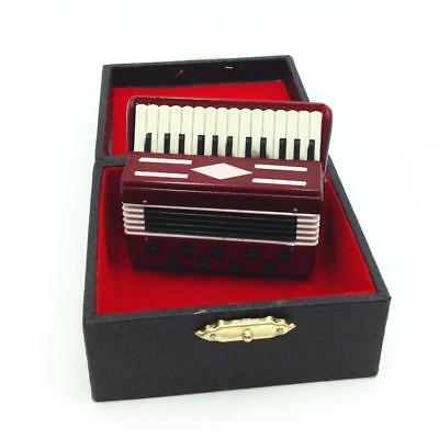 Dollhouse Miniature 1:12 Toy 6 Pieces Red Tools Set Length 2.7cm SPO675