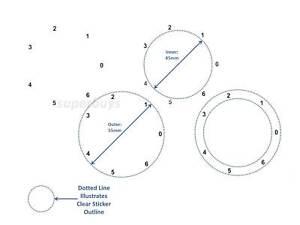 White 4 Circle Adhesive Dial Stove Oven Sticker Label Left Zero Anti Clockwise