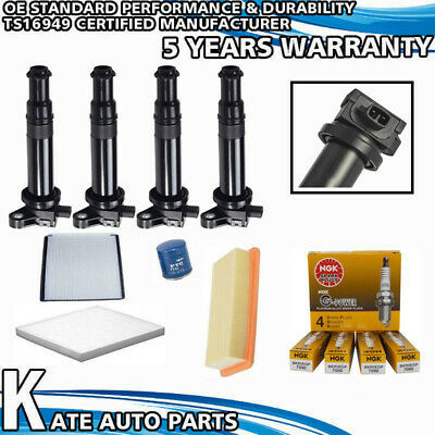 UF499 5C1586 TUPARTS Pack of 4 Ignition Coils Fit for Kia Rio Hyundai Accent L4 1.6L 2006-2011 Replacement for OE
