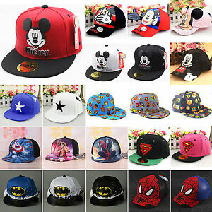 Boys Girls Kids Baby Baseball Cap Cartoon Adjustable Toddler Snapback Beanie Hat