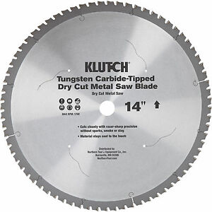 Free Shipping Klutch 14in Dry Cut Metal Saw Blade