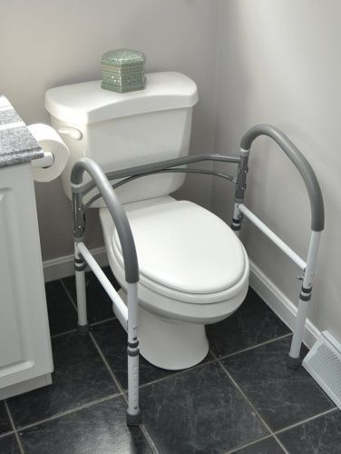 Toilet Safety Rail Surround Support Frame Grab Bathroom Mobility ...