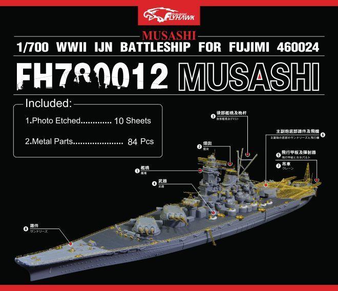 Flyhawk 1 700 780012 IJN Musashi for Fujimi