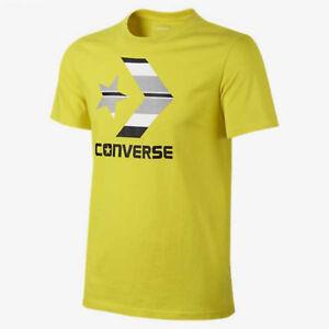1281e4ac757a Mens Converse Chevron Logo T-Shirt Size S M L Yellow Black Grey ...