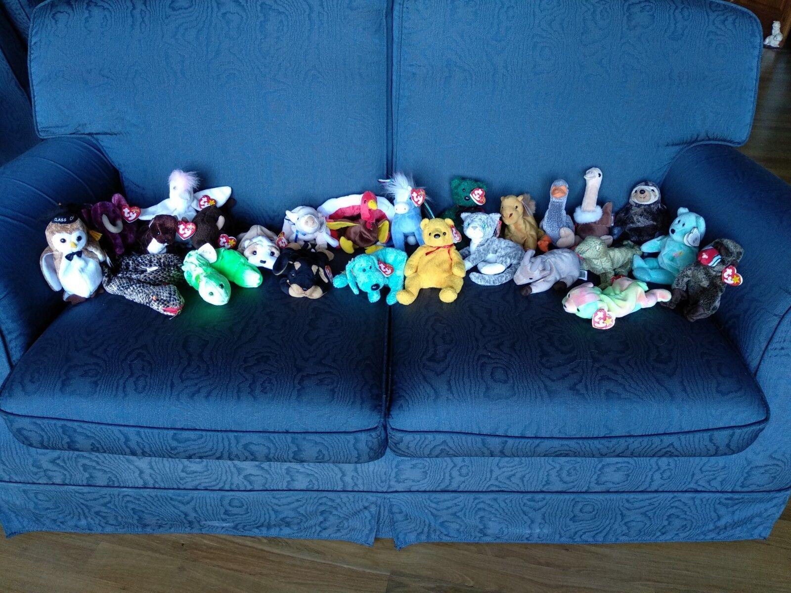 24 ty beanie etiquette babies collectable with original etiquette beanie 0c318a