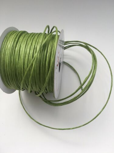 5Mts Green Paper covered Flower Stem Wire Wedding Floral Craft Tourbillon