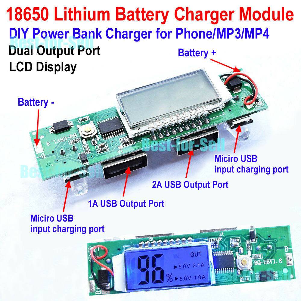 5v 1a 2a Dual Usb Lcd Li Ion Lithium 18650 Battery Charger Module Tiny Charging Circuit To Build Of Norton Secured Powered By Verisign