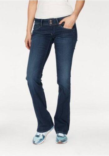 PEPE Jeans London a Pimlico nuovo bootcut blu w25-w27 l32 Donna Pantaloni Stretch Denim